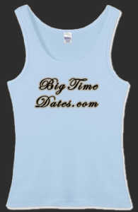 Big Time Dates Women's Fitted Tanktop